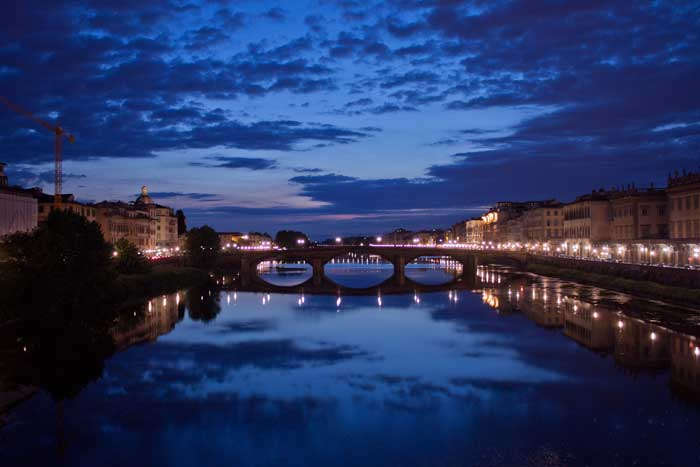 Ponte alla Carraia, Blue Hour, Firenze