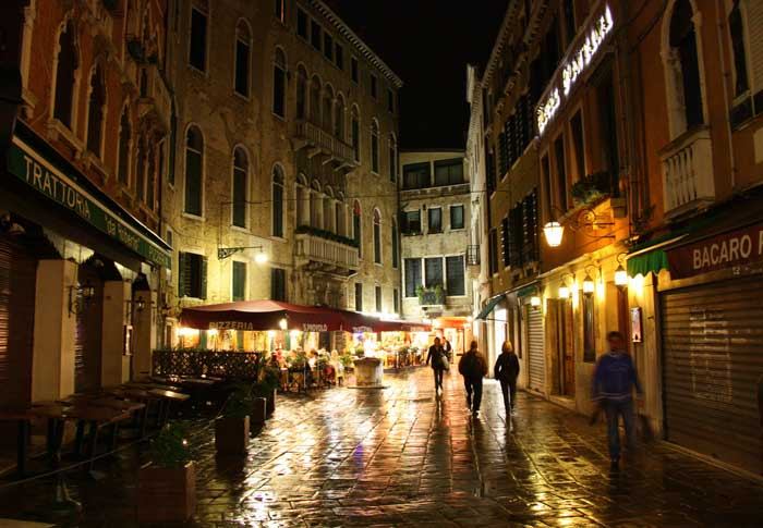 Venice's Terraferma at Night