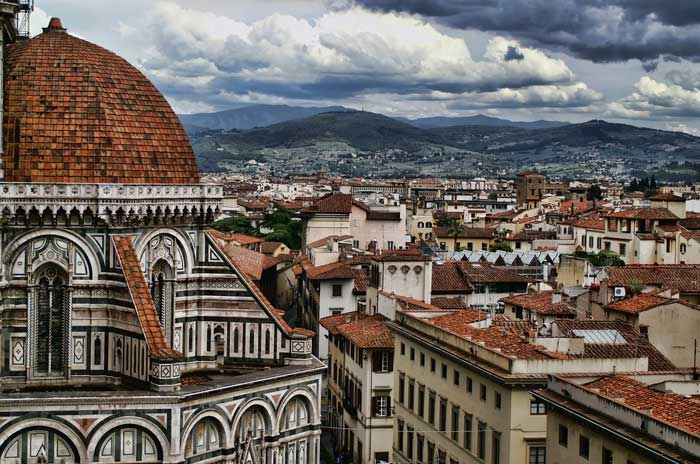 Dome and Florence Skyline, Italy