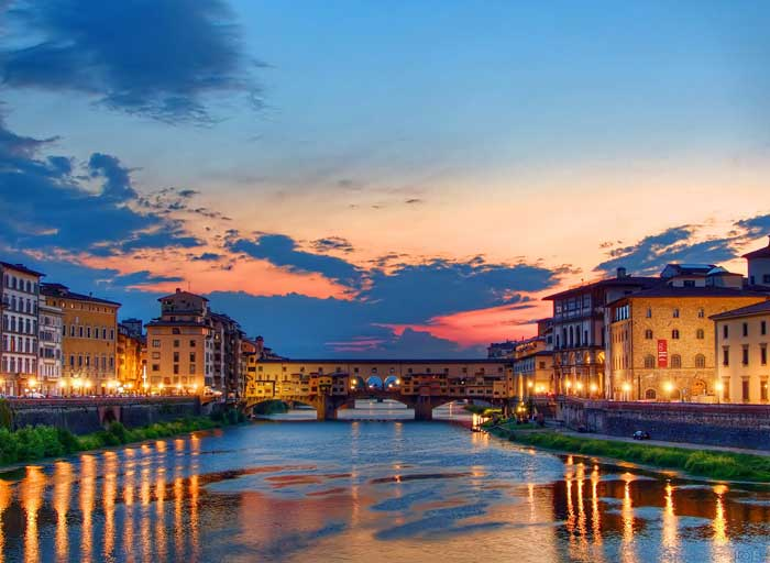 Ponte Vecchio at Sunset, Firenze