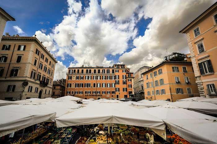 Daily Market in Campo de Fiori, Rome