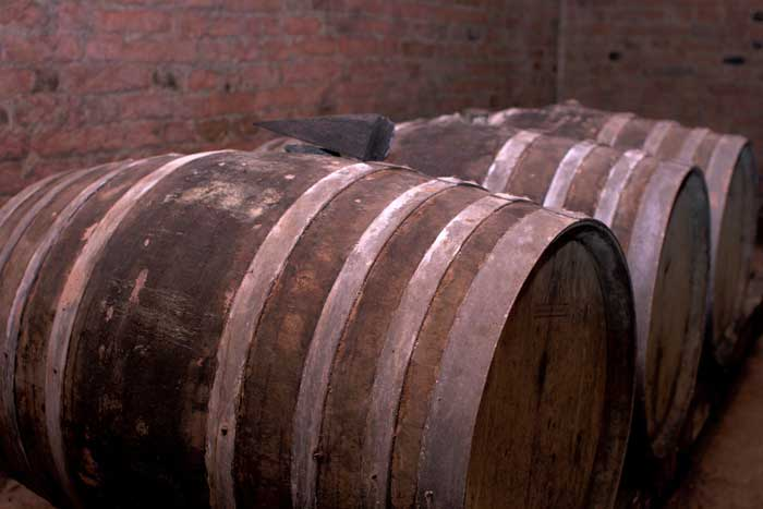 Old Wine barrels, Montopoli in Val d'Arno, Tuscany
