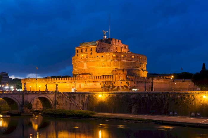 Castel Sant'Angelo By Night, Roma, Italy
