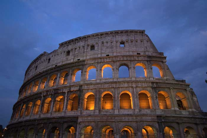 Another Impressive Night View of the Colosseum, Roma, Italy