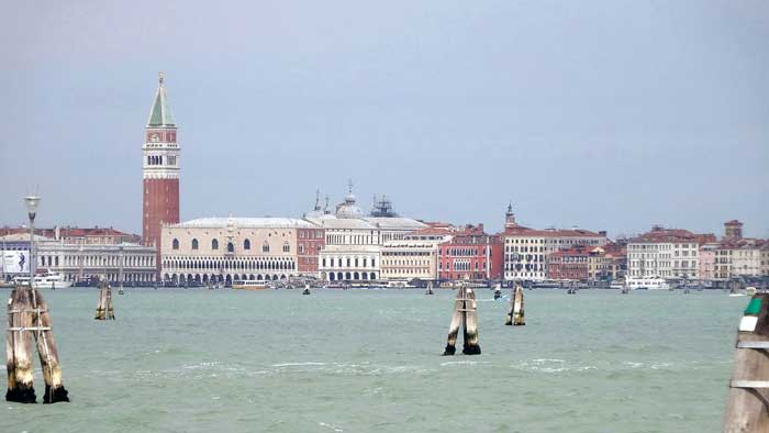 St Mark's Campanile Looking At the Lagoon