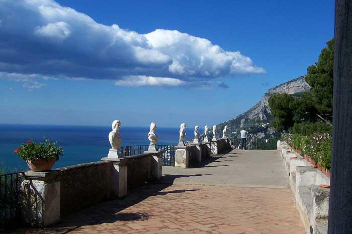 Terrace of the Infinite in Villa Cimbrone, Ravello