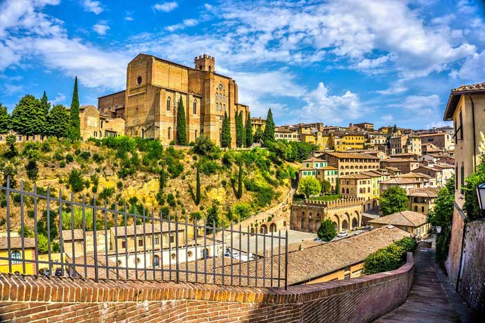 Siena and the Basilica of San Domenico