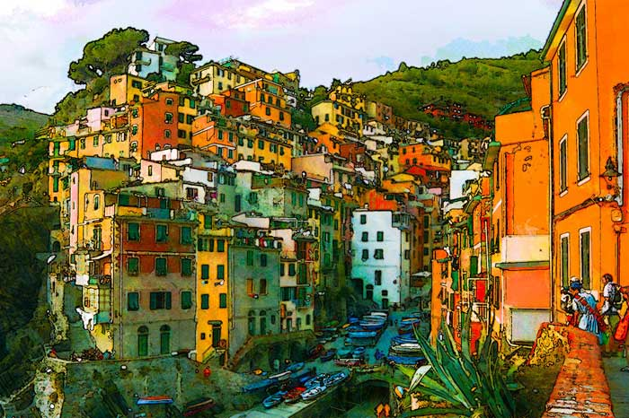 Colorful Tower Houses in Riomaggiore