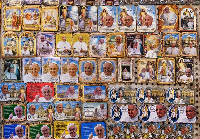 Pope Stickers, Vatican, Rome