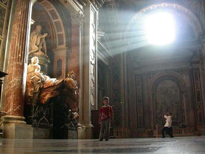 Sunlight on the Tomb of Pope Alexander VII, St Peter's Basilica