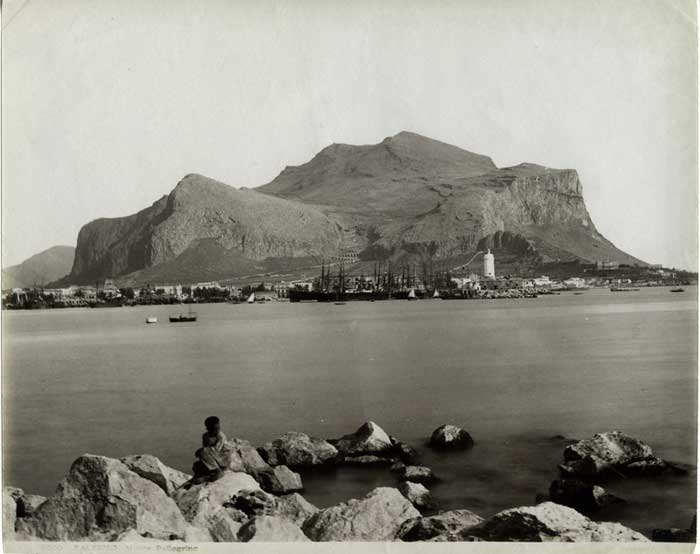 Monte Pellegrino in the 19th Century, Palermo Bay