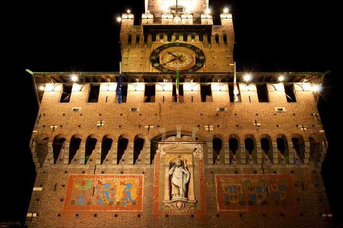 Torre del Filarete, Castello Sforzesco, Milan, Northern Italy