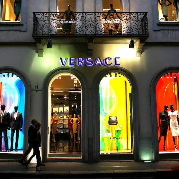 Versace Boutique, Via Monte Napoleone, Quadrilatero della Moda