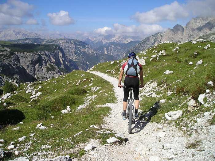 Mountain Biking, Transalp, Italy Dolomites
