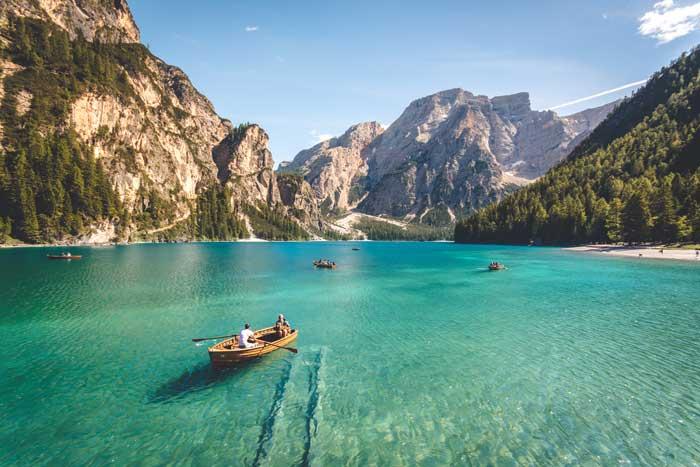 Pragser Wildsee/Lago di Braies, Prags Dolomites, Italy