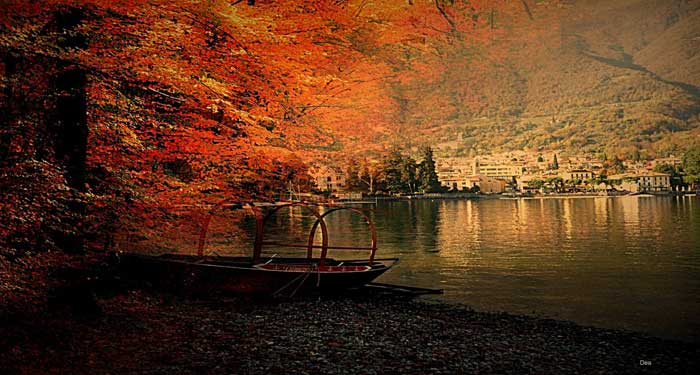 Artistic View of Lenno, Lake Como, Italy