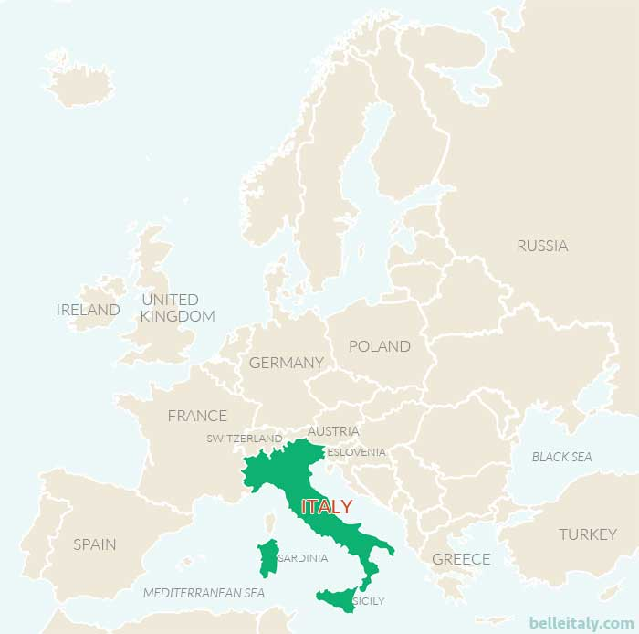 Where is Italy on the Map?