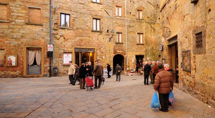 Volterra Residents Going About Their Business