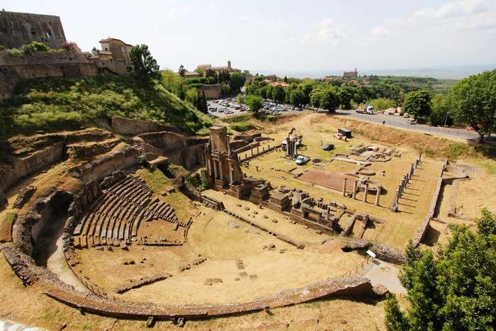 Roman Theatre of Volterra, Italy