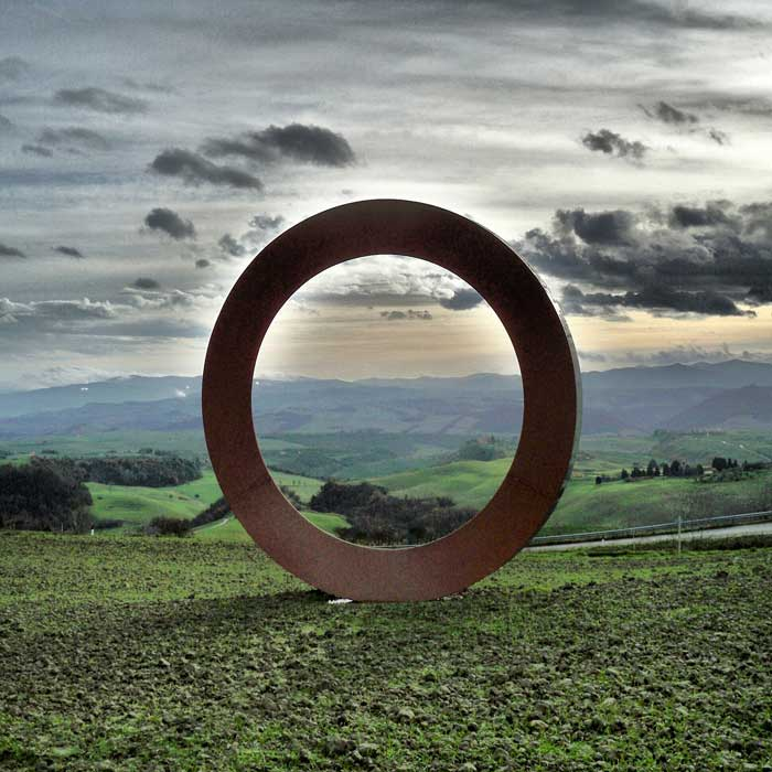 The Ring by Mauro Staccioli, Volterra, Tuscany
