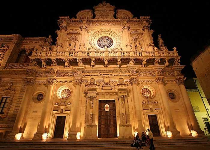 Baroque Basilica di Santa Croce, Lecce, Puglia, Italy