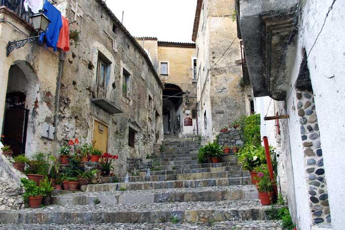Medieval Scalea, Calabria, Italy