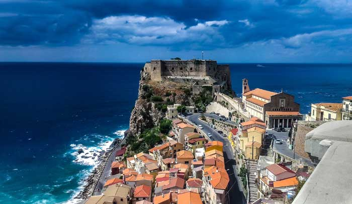 View of Tropea, Calabria, Southern Italy
