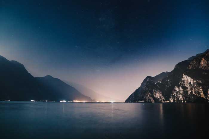 Magnificent Lake Garda at Night